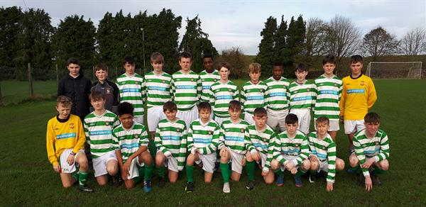 Under 15 Boys Soccer team beat Presentation Athenry