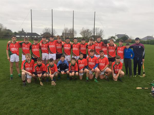 Good luck to our Junior A hurlers playing the Bish today!