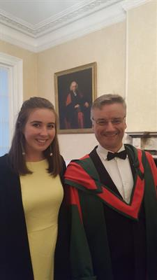 Shauna Fitzmaurice and Caoimhe O'Connell, past pupils, selected to the Body of Scholars in Trinity