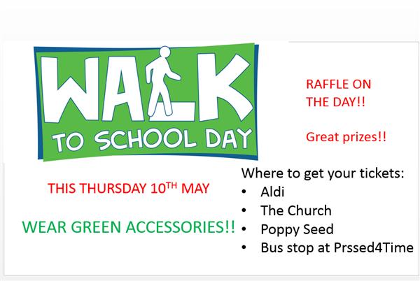Green day - Walk to School on Thursday