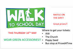 Green day - Walk to School on Thursday