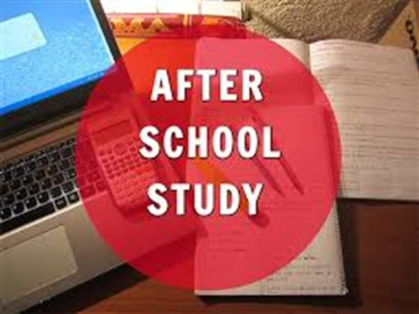 After School Study begins Monday September 10th