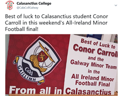 Best of luck to Conor Carroll in the All Ireland Minor Football Final!