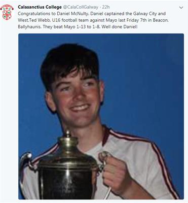 Congratulations to Daniel McNulty!