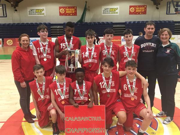 Calasanctius Under 14 Boys win Basketball finals