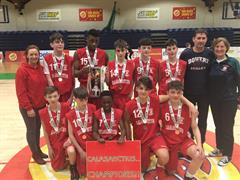 Calasanctius Under 14 Boys win Basketball finals