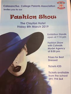 Tickets for Calasanctius Fashion Show On Sale Now!!