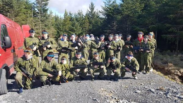 2nd Years play Léasar Laiste  - laser Tag as Gaeilge!